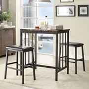 HomeVance 3 pc Denslow Bistro Set