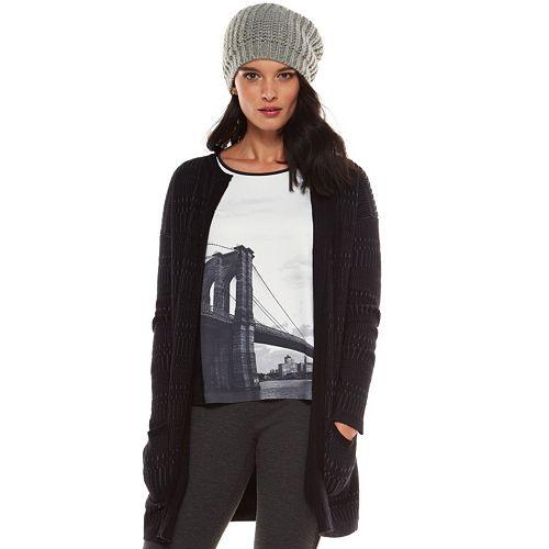 Women's Elie Tahari for DesigNation Textured Cardigan Sweater