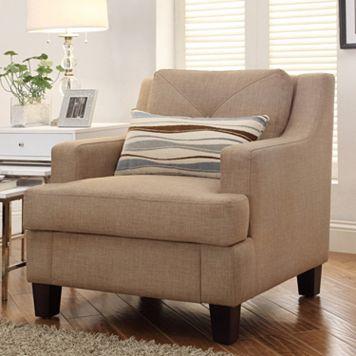 HomeVance Gaven Linen Arm Chair