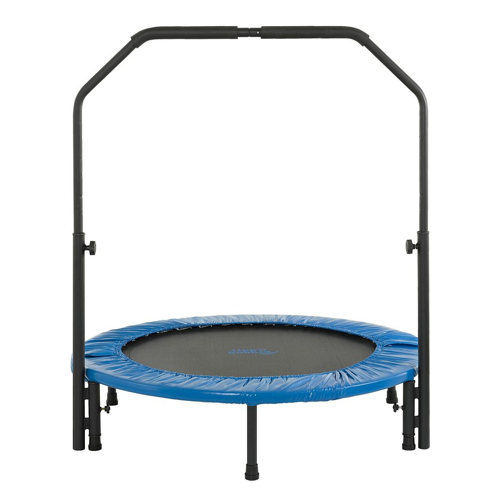 Upper Bounce 40-in. Mini Folding Rebounder Fitness Trampoline with Adjustable Handrail