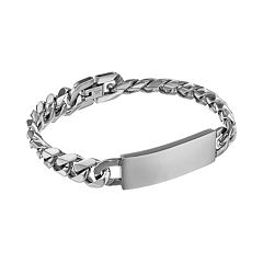 LYNX Stainless Steel Curb Chain ID Bracelet -  Men