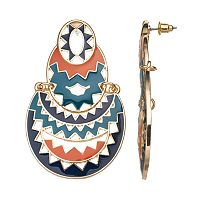 GS by gemma simone Ancient Worlds Yaretzi Zig Zag Drop Earrings