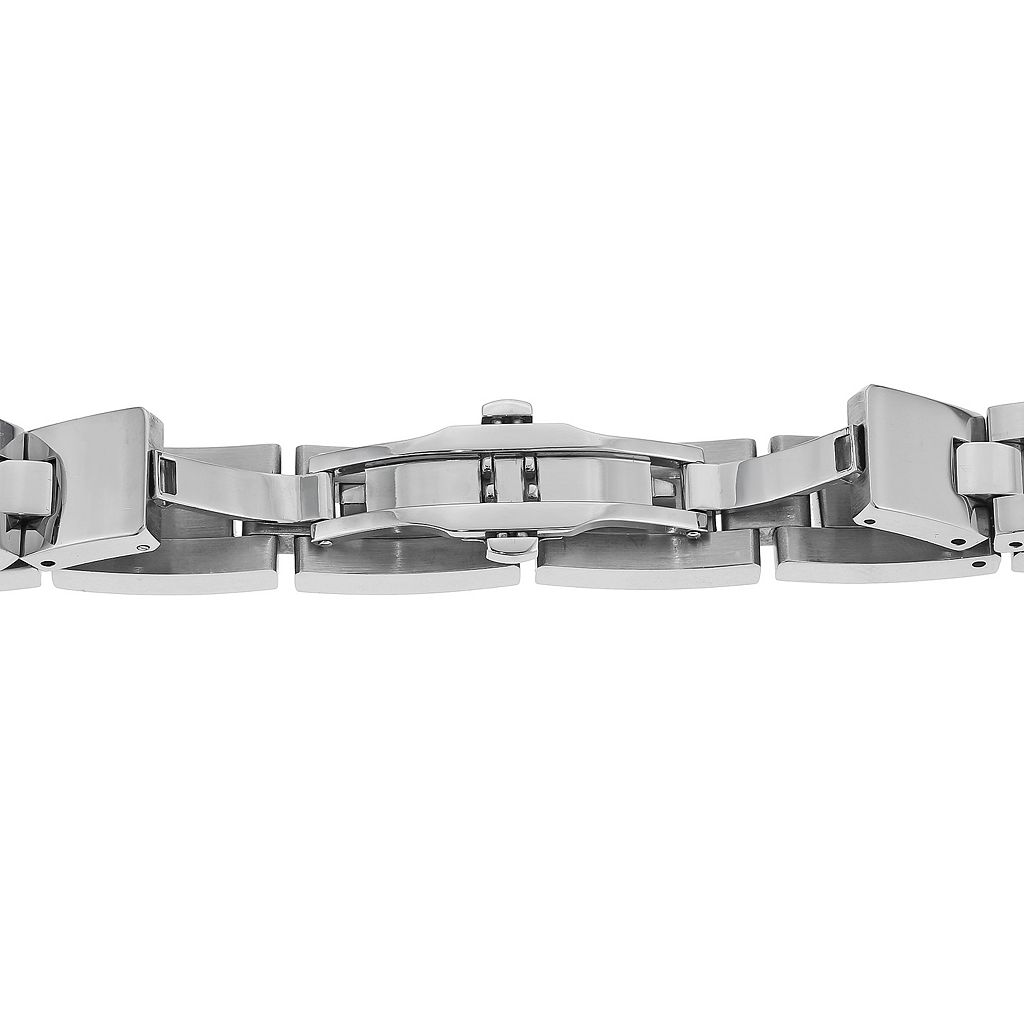 LYNX Stainless Steel H-Link and Cable Bracelet - Men