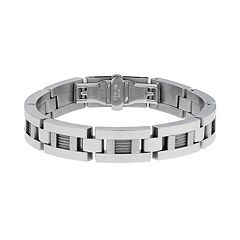 LYNX Stainless Steel  Cable Link Bracelet -  Men