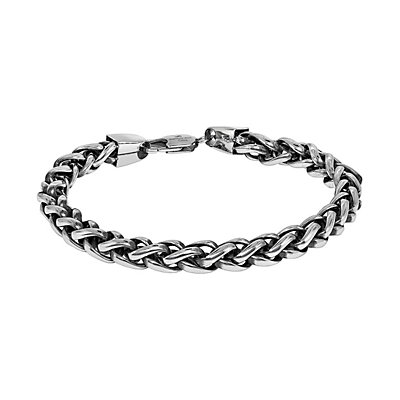 LYNX Two Tone Ion-Plated Stainless Steel Foxtail Chain Bracelet -  Men