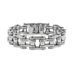 LYNX Stainless Steel  Motorcycle Chain Bracelet -  Men