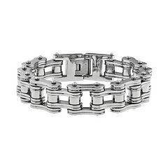 LYNX Stainless Steel  Motorcycle Chain Bracelet -  Men