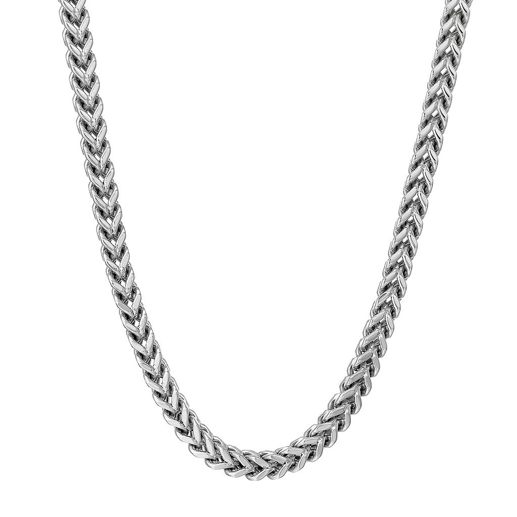 LYNX Men's Stainless Steel Foxtail Chain Necklace - 30 in.