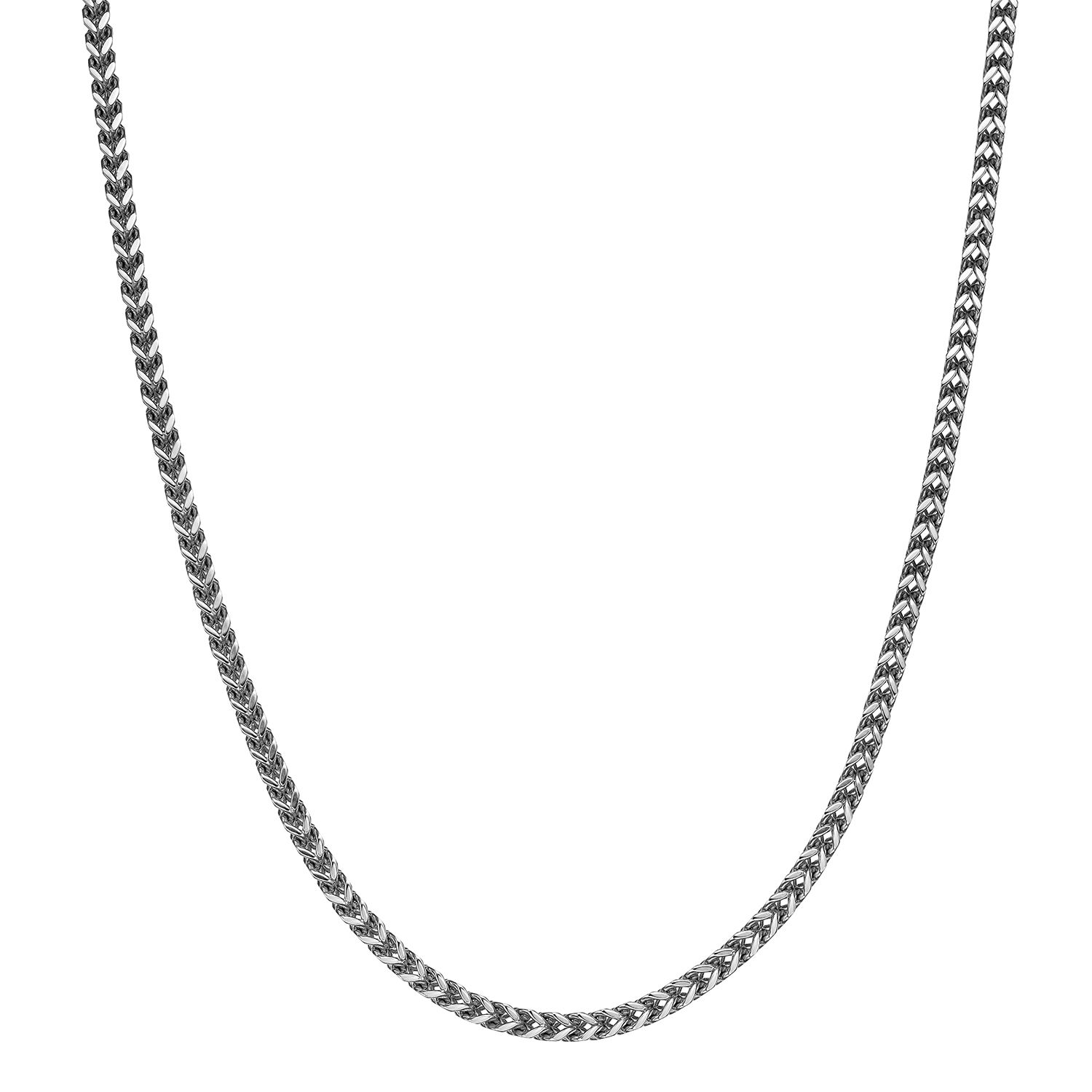 LOPEZ KENT Stainless Steel Necklace Men Key Red//Black//White//Blue Cubic Zirconia Necklace Silver