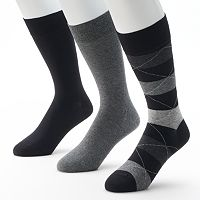 Men's Marc Anthony 3 pkWide-Striped Dress Socks