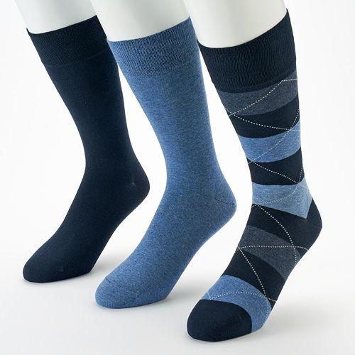 Men's Marc Anthony 3-pk. Wide-Striped Dress Socks