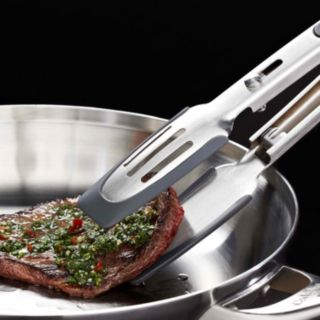 Calphalon Stainless Steel Silicone-Tipped Tongs