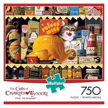Charles Wysocki Cats: Ethel the Gourmet 750-pc. Puzzle