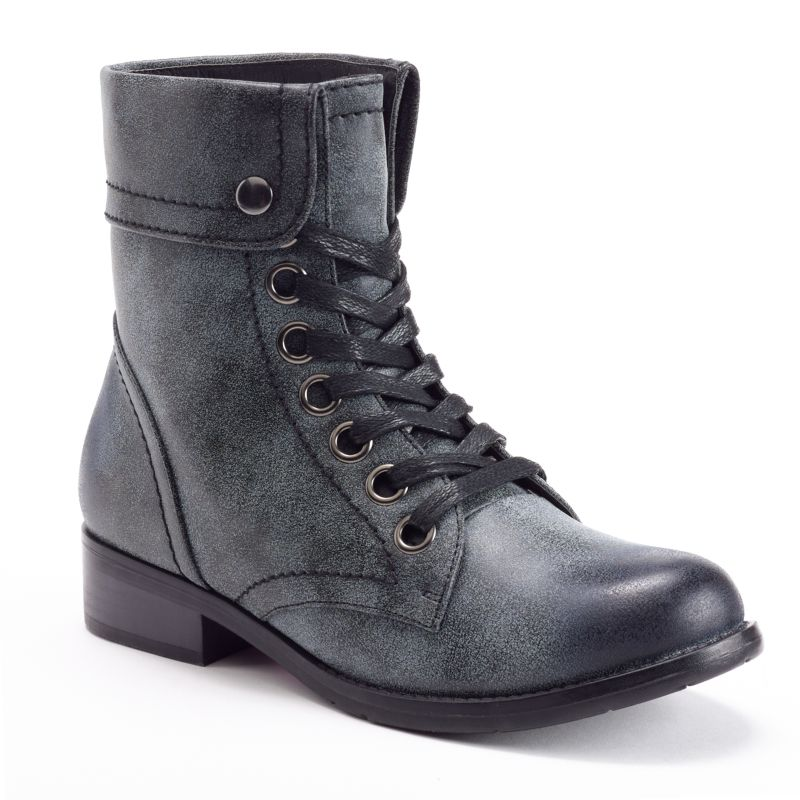 Brilliant Bamboo Fold Over Floral Print Combat Boot  Cicihot Boots Catalog