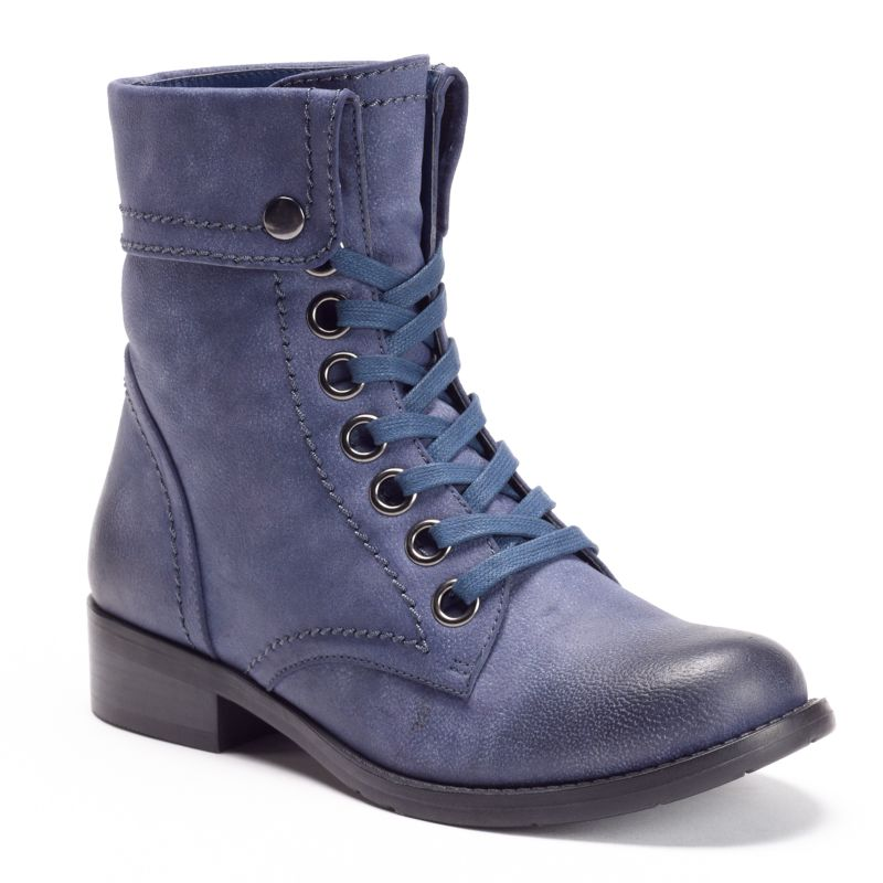 Kisses by 2 lips too women s fold over combat boots