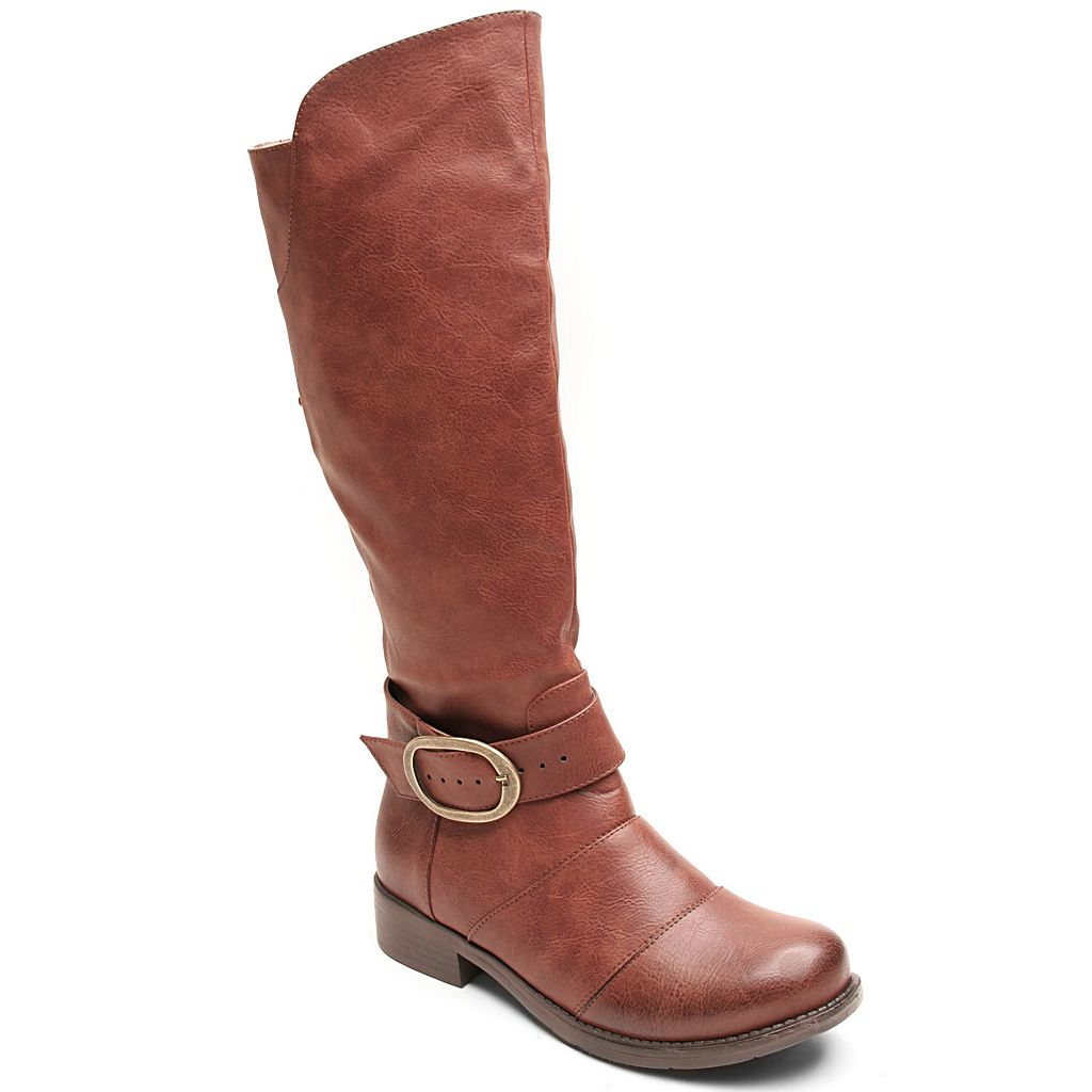 Kisses by 2 Lips Too Too Jive Women's Adjustable Calf Riding Boots
