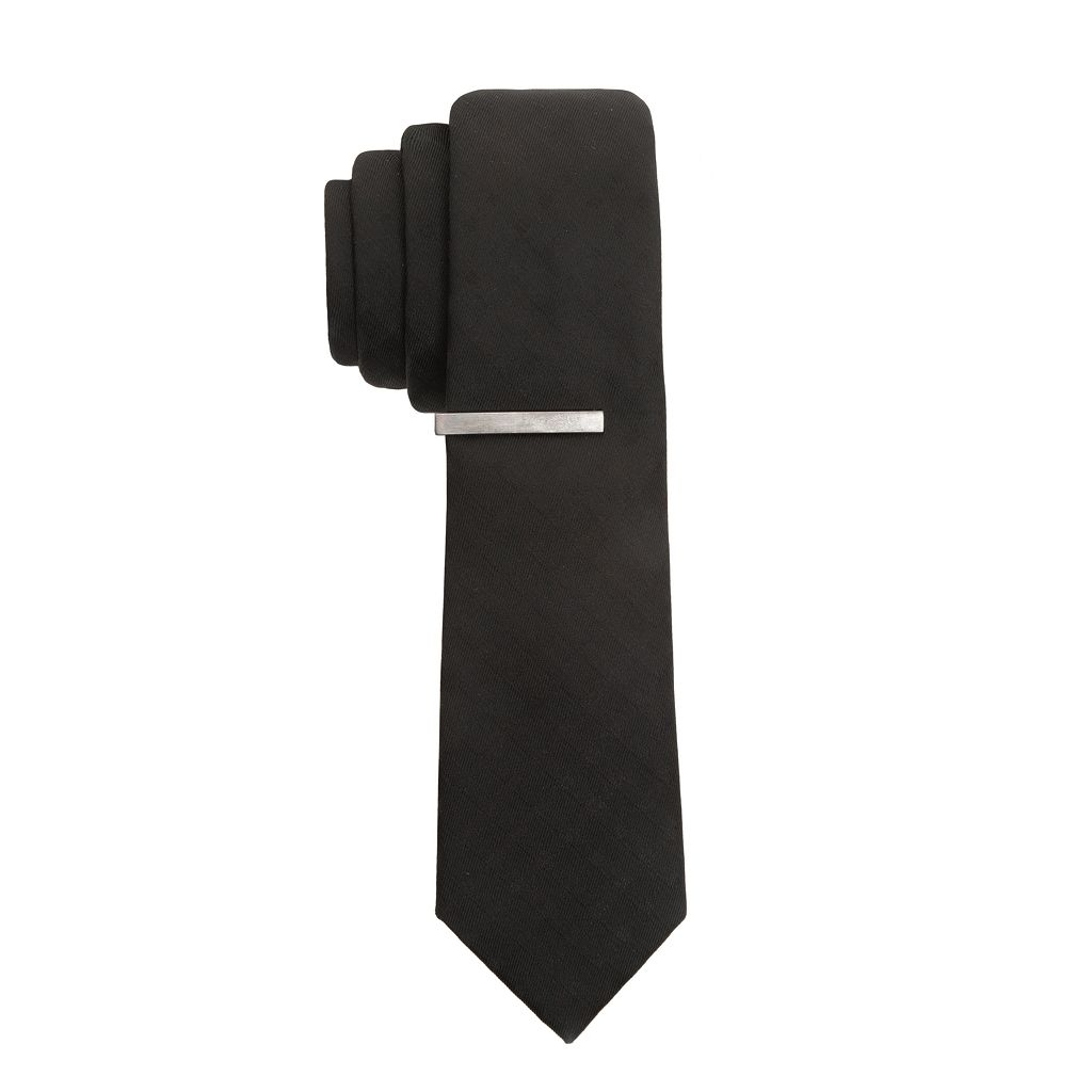Apt. 9® Extra-Slim Tipton Grid Tie & Bar Set - Men