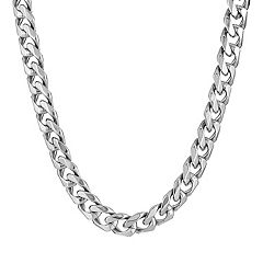 LYNX Stainless Steel Curb Chain Necklace - 22 in - Men