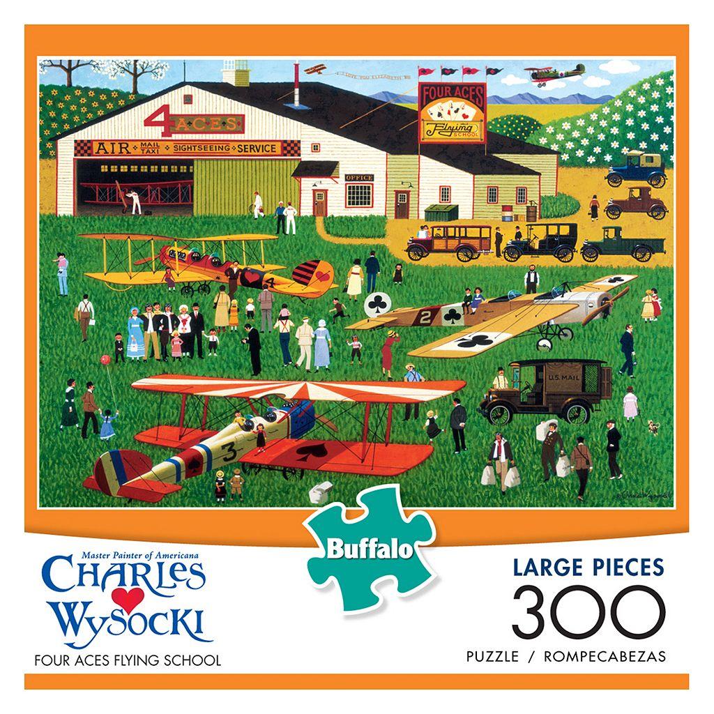 Charles Wysocki: Four Aces Flying School 300-pc. Puzzle