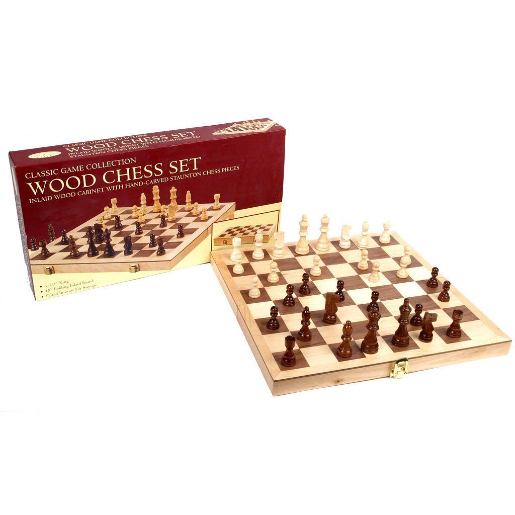 Deluxe 18-in. Folding Chess Set by John N. Hansen Co.