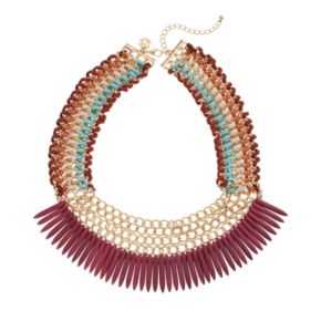 GS by gemma simone Ancient Worlds Collection Ayana Spike Bib Statement Necklace