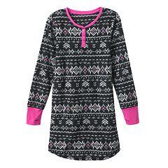SO® Fairisle Microfleece Henley Nightgown - Girls 7-16