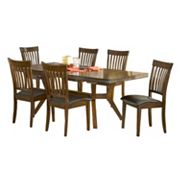 Hillsdale Furniture Arbor Hill 7 pc Extendable Dining Set