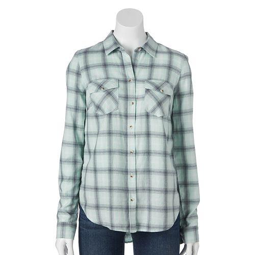 9b179942 SONOMA Goods for Life™ Flannel Shirt - Women's