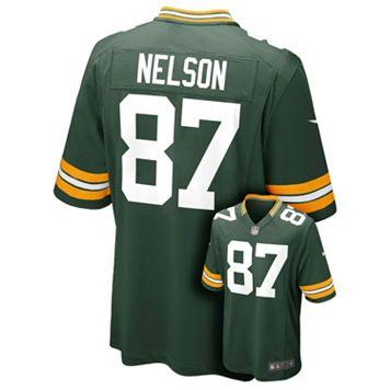 Boys 8-20 Nike Green Bay Packers Jordy Nelson Game NFL Replica Jersey