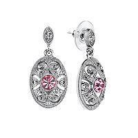 Downton Abbey® Textured Oval Drop Earrings