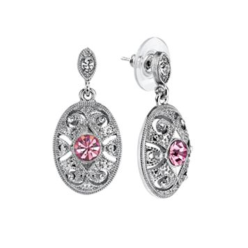 Downton Abbey® Textured Oval Drop Earrings