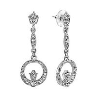 Downton Abbey® Circle Drop Earrings