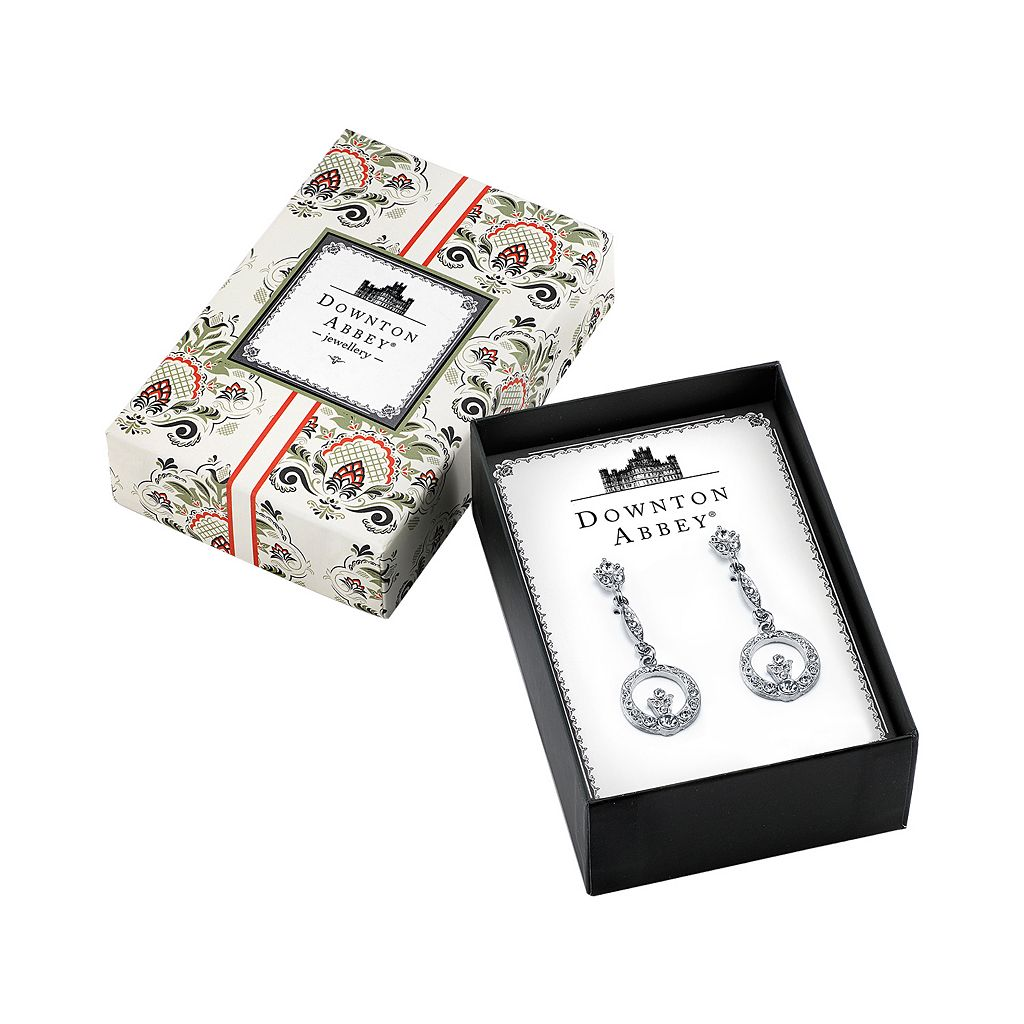 Downton Abbey Circle Drop Earrings