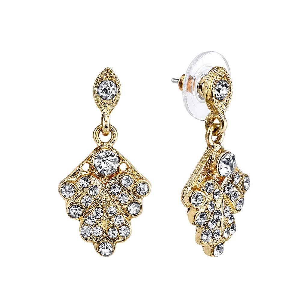 Downton Abbey® Fan Drop Earrings