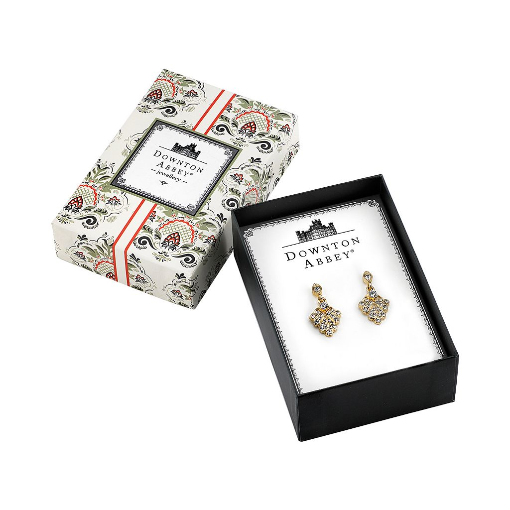 Downton Abbey Fan Drop Earrings