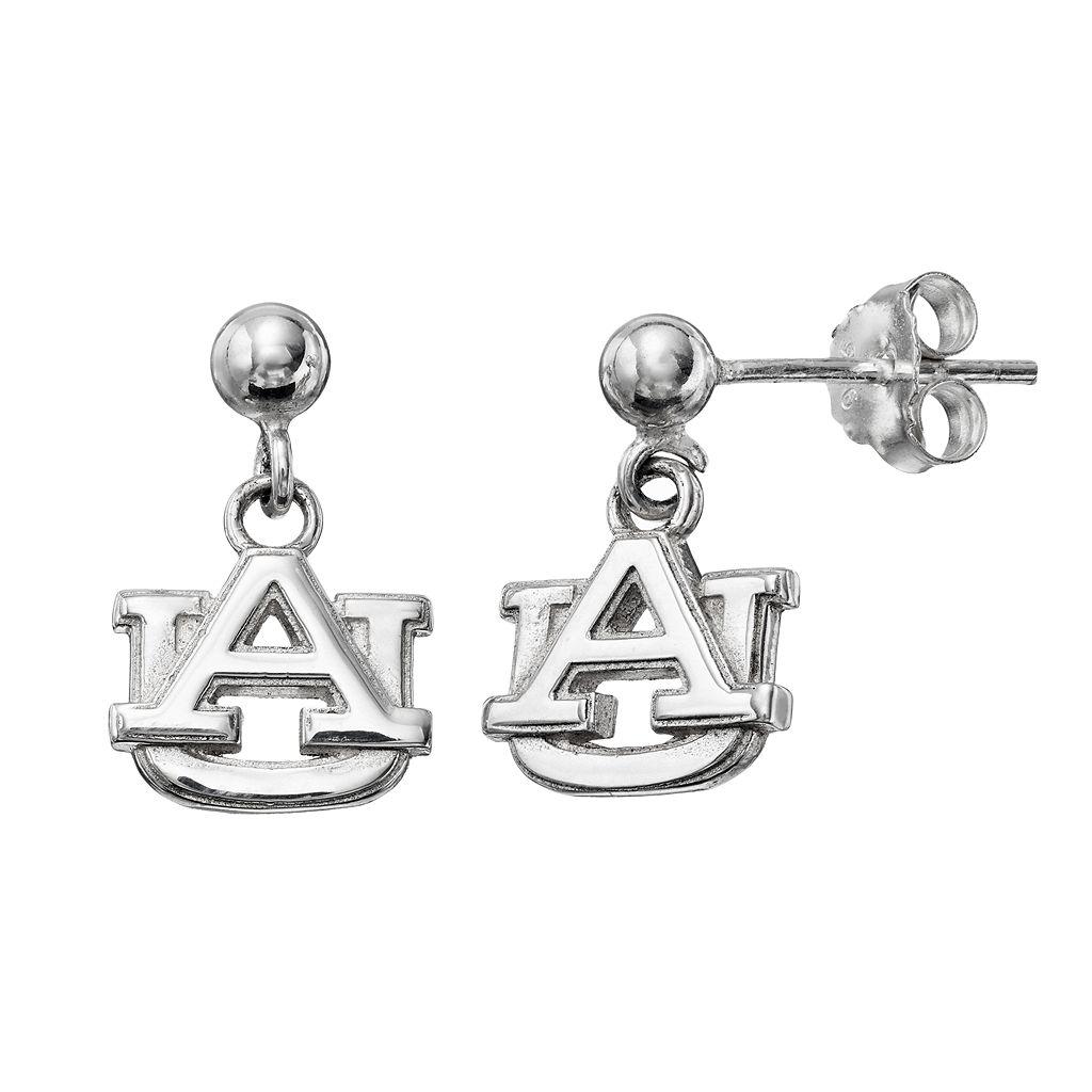 Dayna U Auburn Tigers Sterling Silver Drop Earrings