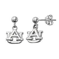 Dayna U Auburn Tigers Sterling Silver Drop Earrings