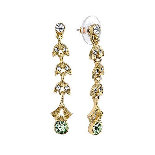 Downton Abbey® Vine Linear Drop Earrings