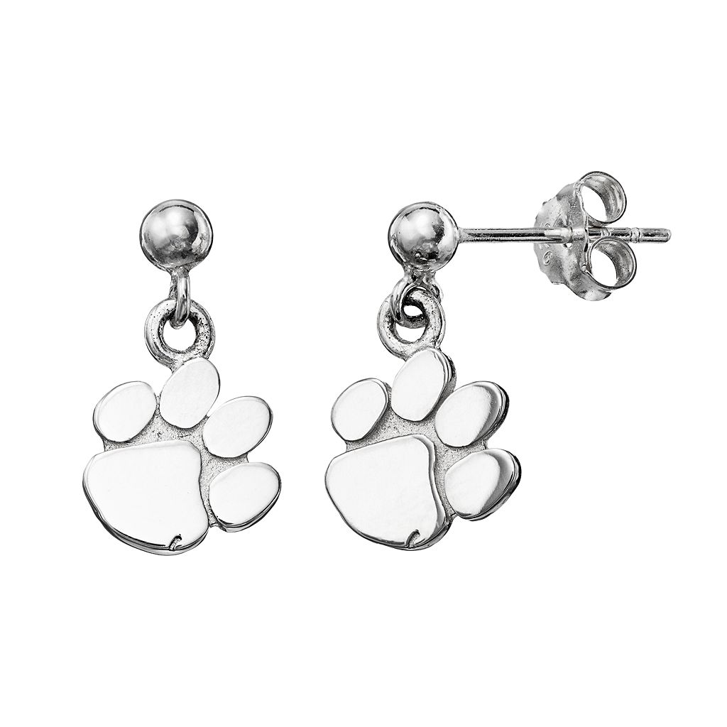 Dayna U Clemson Tigers Sterling Silver Drop Earrings