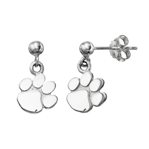 Dayna U Clemson Tigers Sterling Silver Drop Earrings