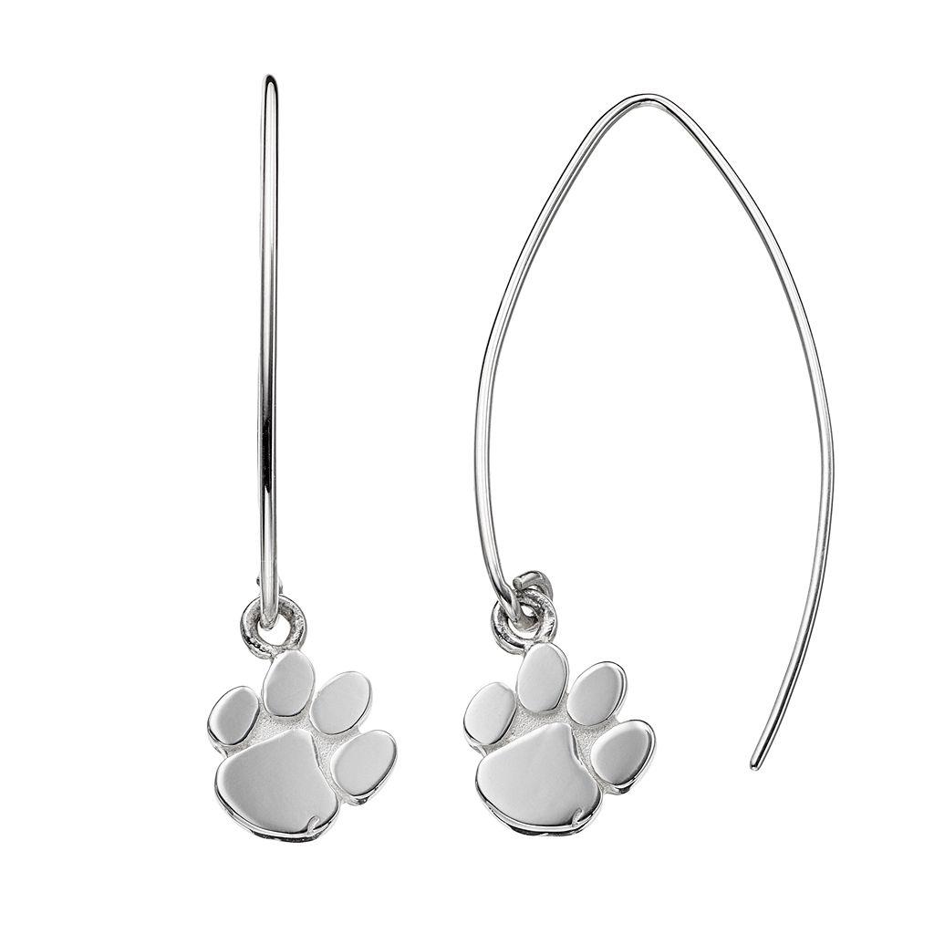 Dayna U Clemson Tigers Sterling Silver Hook Earrings