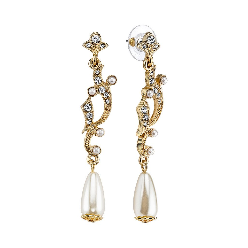 Downton Abbey® Openwork Drop Earrings