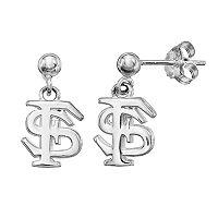 Dayna U Florida State Seminoles Sterling Silver Drop Earrings