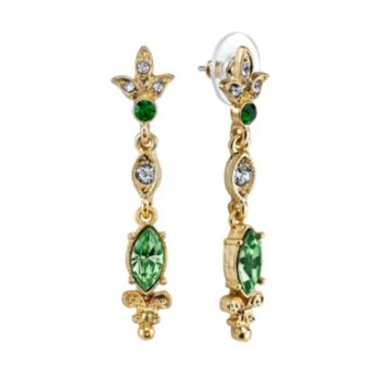 Downton Abbey Linear Drop Earrings