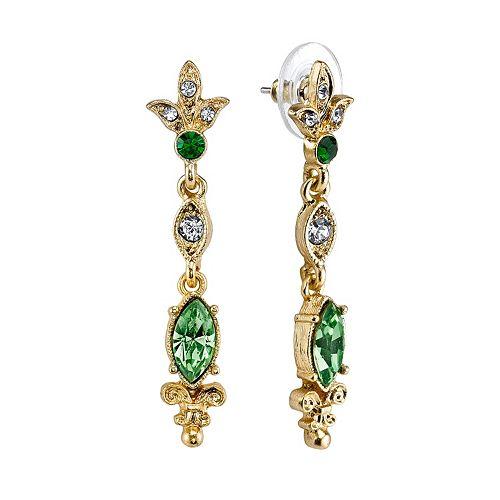 Downton Abbey® Linear Drop Earrings