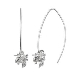 Dayna U Georgia Tech Yellow Jackets Sterling Silver Hook Earrings