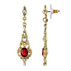 Downton Abbey® Linear Drop Earrings
