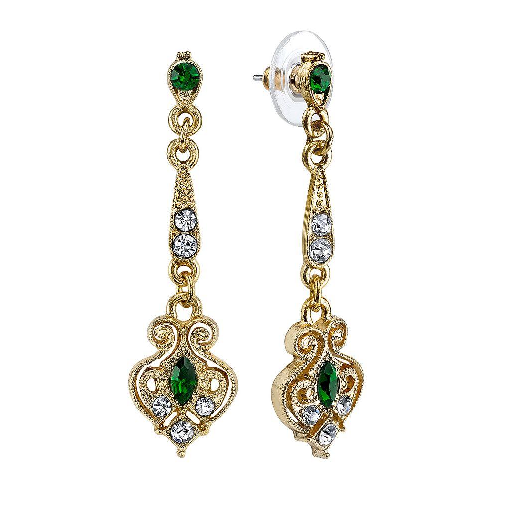 Downton Abbey® Filigree Linear Drop Earrings