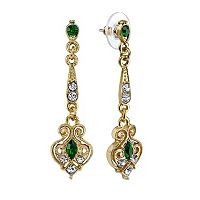 Downton Abbey® Filigree Linear Drop Earrings