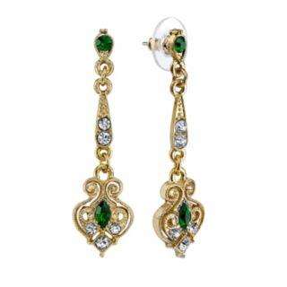 Downton Abbey Filigree Linear Drop Earrings